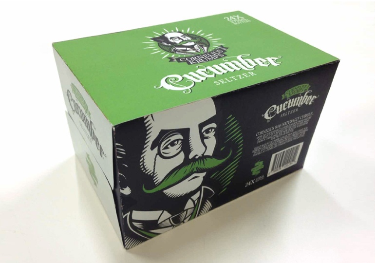 Cornelius Krump's Cucumber Seltzer Carton of 24
